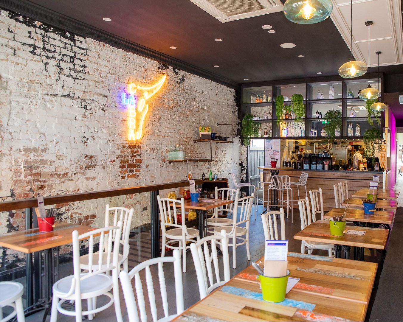 Inside seating area of La Cabra Mexican Hawthorn