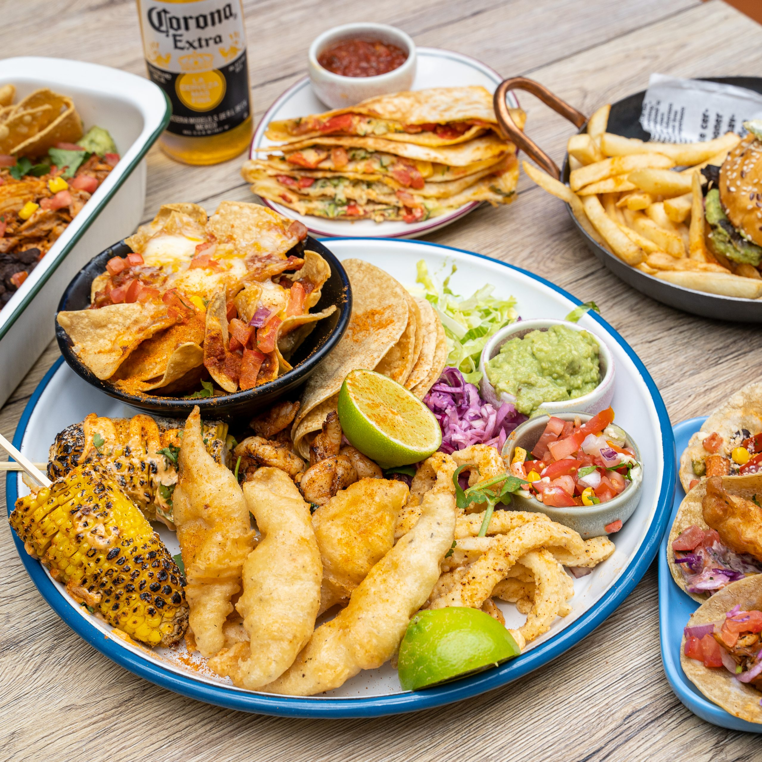 Mexican Food: Bottomless Brunch menu items served on a plate