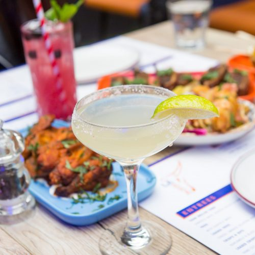 Mexican Food: Traditional Margarita with Lemon