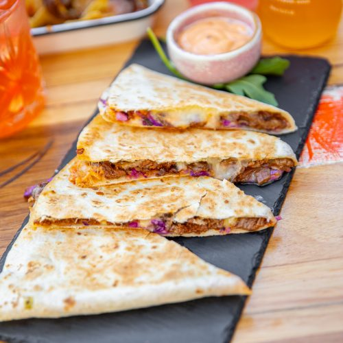 Mexican Food: Beef Quesadillas served on a plate